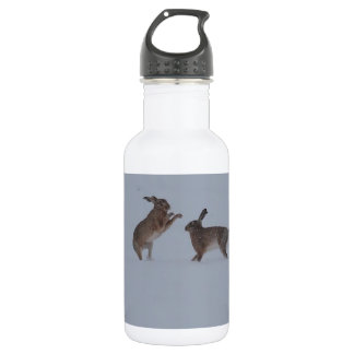 Boxing hares 18oz water bottle