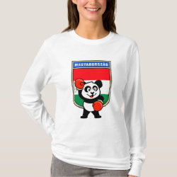 Hungary Boxing Panda Women's Basic Long Sleeve T-Shirt