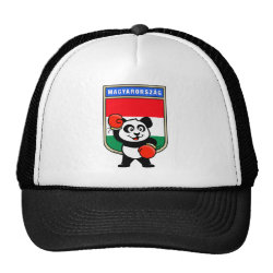 Hungary Boxing Panda Trucker Hat