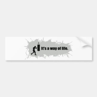 Boxing Is a Way of Life Bumper Sticker