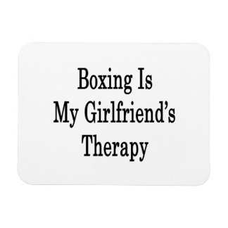 Boxing Is My Girlfriend's Therapy Rectangular Photo Magnet