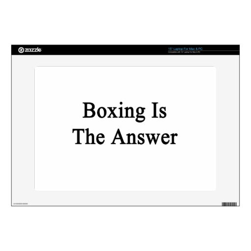Boxing Is The Answer Decals For Laptops