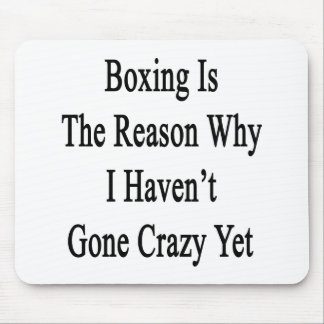 Boxing Is The Reason Why I Haven't Gone Crazy Yet. Mouse Pad