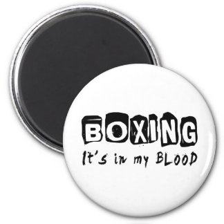Boxing It's in my blood 2 Inch Round Magnet