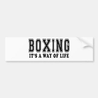 Boxing It's way of life Car Bumper Sticker