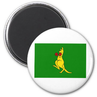"""Boxing kangaroo collector item""""s 2 inch round magnet"""