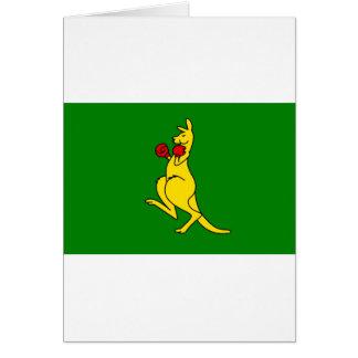 """Boxing kangaroo collector item""""s card"""