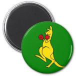 "Boxing kangaroo collector item""s magnet"