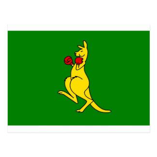 """Boxing kangaroo collector item""""s post card"""