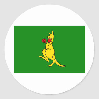 """Boxing kangaroo collector item""""s round stickers"""