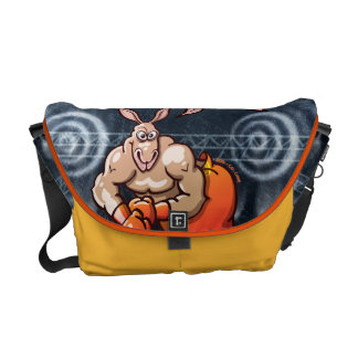 Boxing Kangaroo Courier Bag
