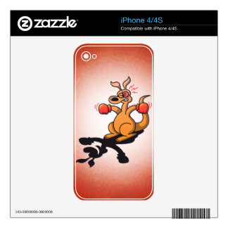 Boxing Kangaroo iPhone 4S Decals