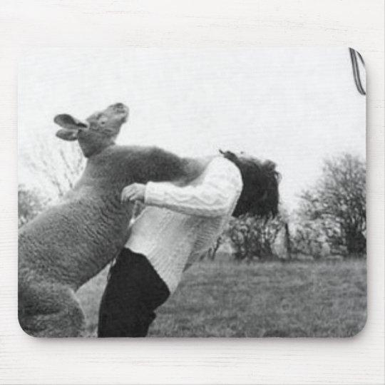 Boxing Kangaroo Mouse Pad