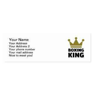 Boxing king champion business card