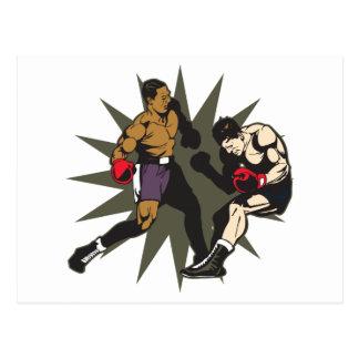 Boxing Knockout Postcard