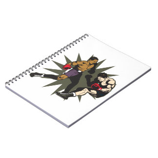 Boxing Knockout Spiral Notebook