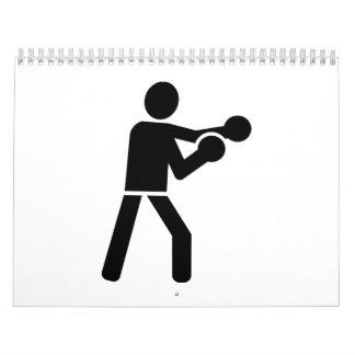 Boxing logo icon calendar