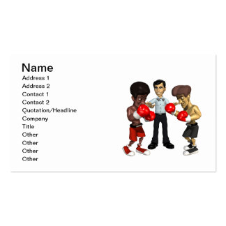 Boxing Match 2 Business Card