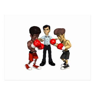 Boxing Match 2 Postcard