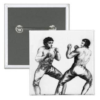 Boxing Match Pinback Button
