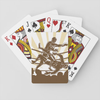 Boxing Match Playing Cards