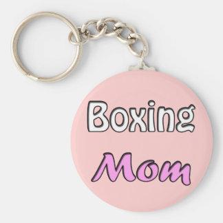 Boxing Mom Basic Round Button Keychain
