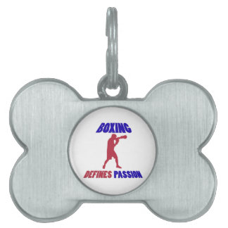 boxing my passion pet tags