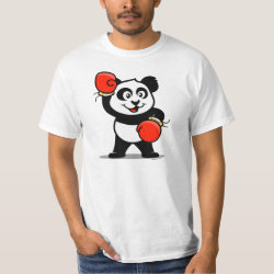 Men's Crew Value T-Shirt with Cute Boxing Panda design