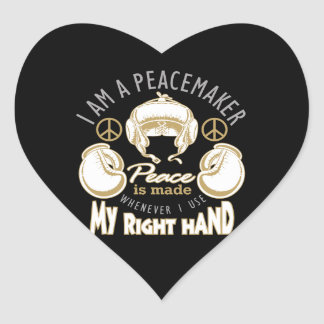 boxing peacemaker heart sticker
