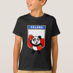 Kids' Hanes TAGLESS® T-Shirt with Polish Boxing Panda design