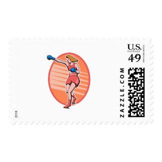 Boxing Postage Stamp