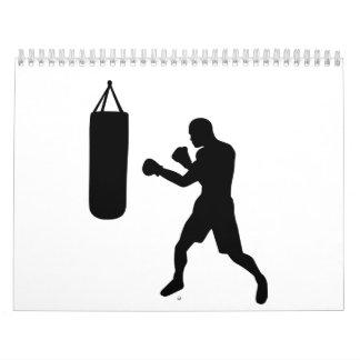Boxing punching bag calendar