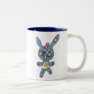 Boxing Rabbit 15oz Two-Tone Mug