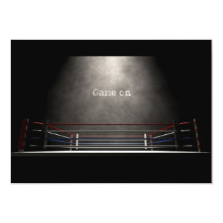 Boxing Ring Spotlit Game On Card