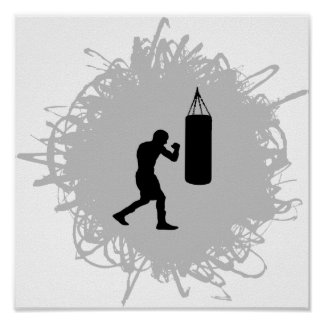 Boxing Scribble Style Poster
