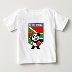 Baby Fine Jersey T-Shirt with South Africa Boxing Panda design