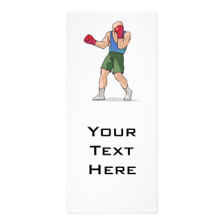boxing stance boxer graphic rack card