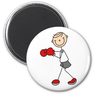 Boxing Stick Figure Magnet