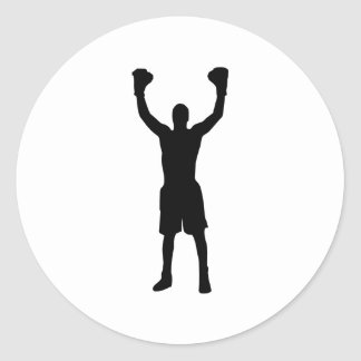 Boxing Classic Round Sticker