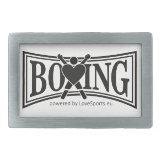 Boxing-Style Rectangular Belt Buckle