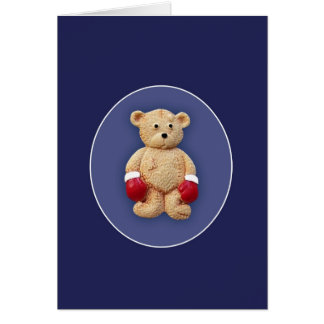 Boxing Teddy Bear Card