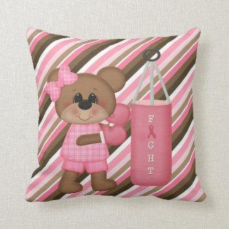 Boxing Teddy Bear Hitting the Bag Pillow