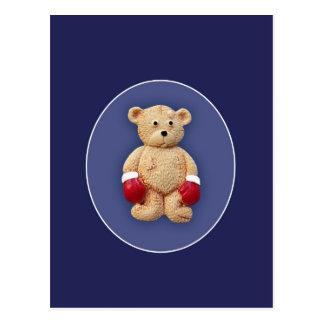 Boxing Teddy Bear Postcard