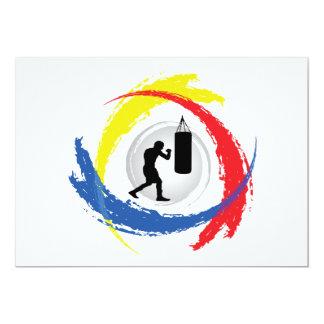 Boxing Tricolor Emblem Card