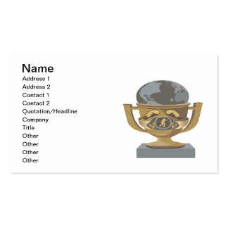 Boxing Trophy Business Card