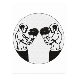 Boxing - Two warriors face off Postcard