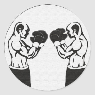 Boxing - Two warriors face off Classic Round Sticker