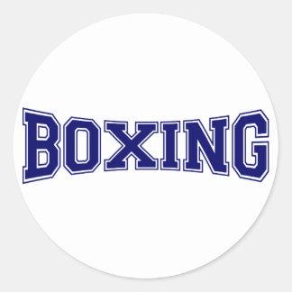 Boxing University Style Classic Round Sticker
