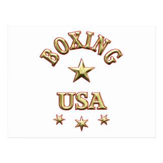 Boxing USA Postcard