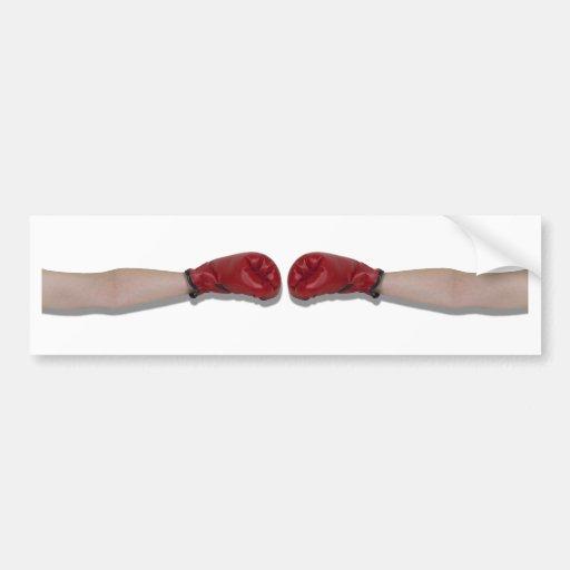 BoxingHandshake060910Shadow Pegatina De Parachoque
